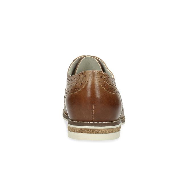 Hnědé dámské kožené polobotky bata, hnědá, 526-3649 - 15