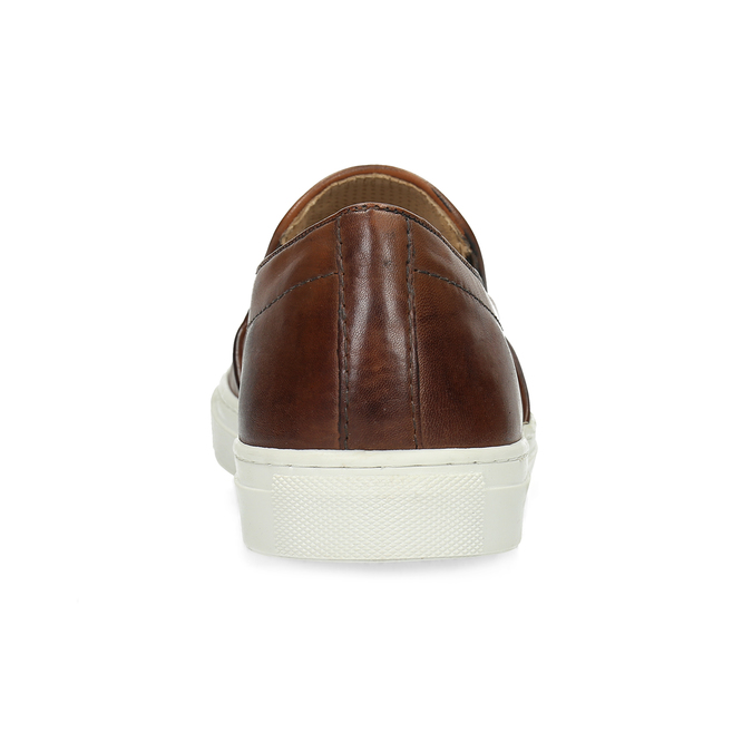 Pánská kožená Slip-on obuv bata, hnědá, 836-4601 - 15
