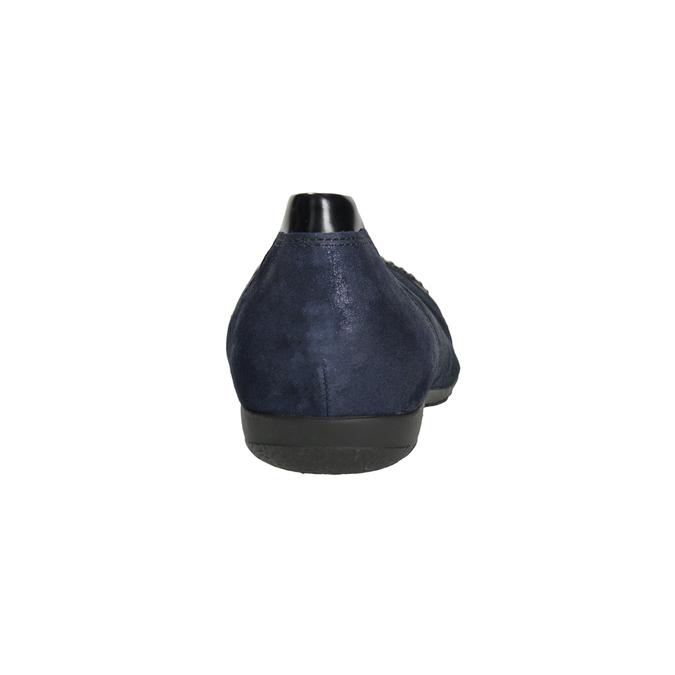 Dámské kožené baleríny s kamínky gabor, modrá, 526-9502 - 16