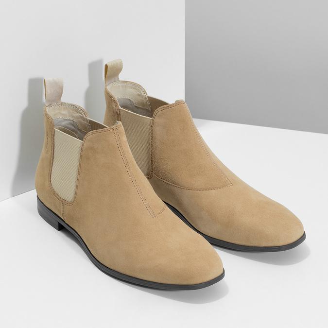 Kožené kotníčkové Chelsea Boots vagabond, hnědá, 513-4098 - 26