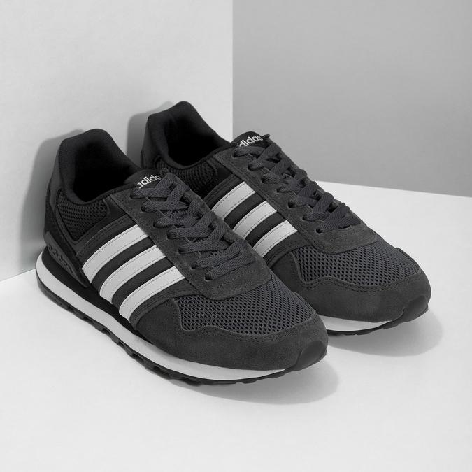 Černé pánské tenisky z broušené kůže adidas, černá, 803-6293 - 26