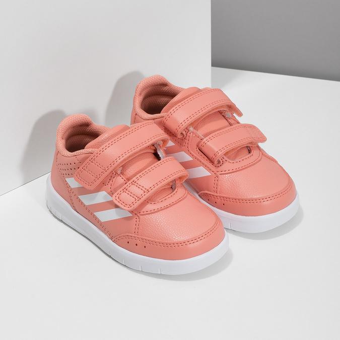 Dívčí růžové tenisky na suché zipy adidas, růžová, 101-5151 - 26