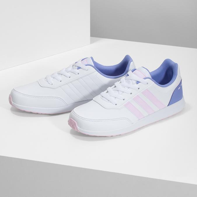Dívčí bílé tenisky s růžovými detaily adidas, bílá, 401-1181 - 16