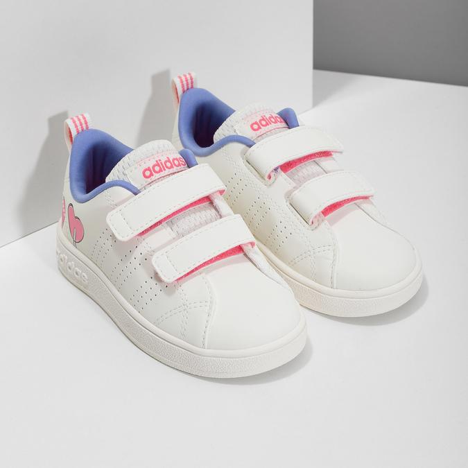Dětské bílé tenisky se srdíčky adidas, bílá, 101-1129 - 26
