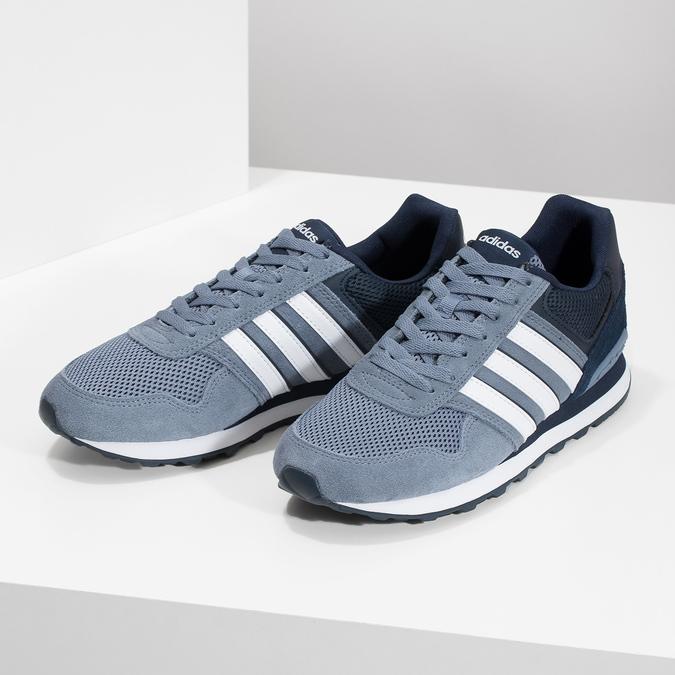 Pánské tenisky z broušené kůže adidas, modrá, 803-2293 - 16