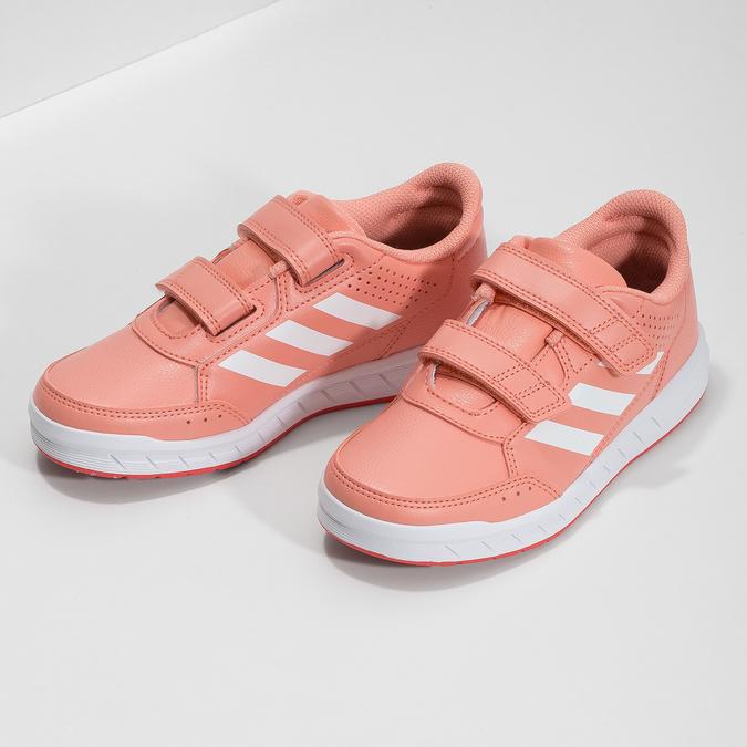 Dětské tenisky v lososové barvě adidas, růžová, 301-5151 - 16