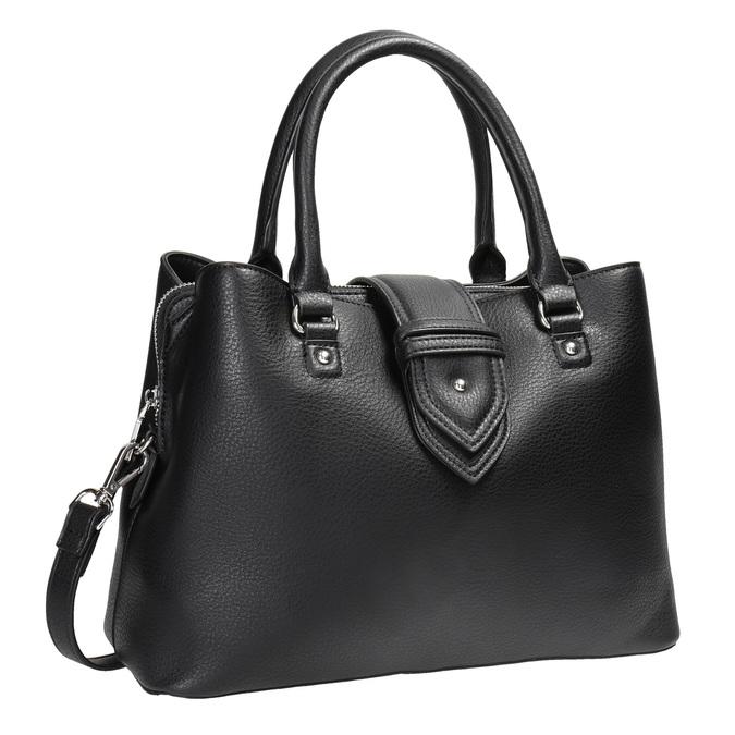Černá kabelka s odnímatelným popruhem bata, černá, 961-6216 - 13