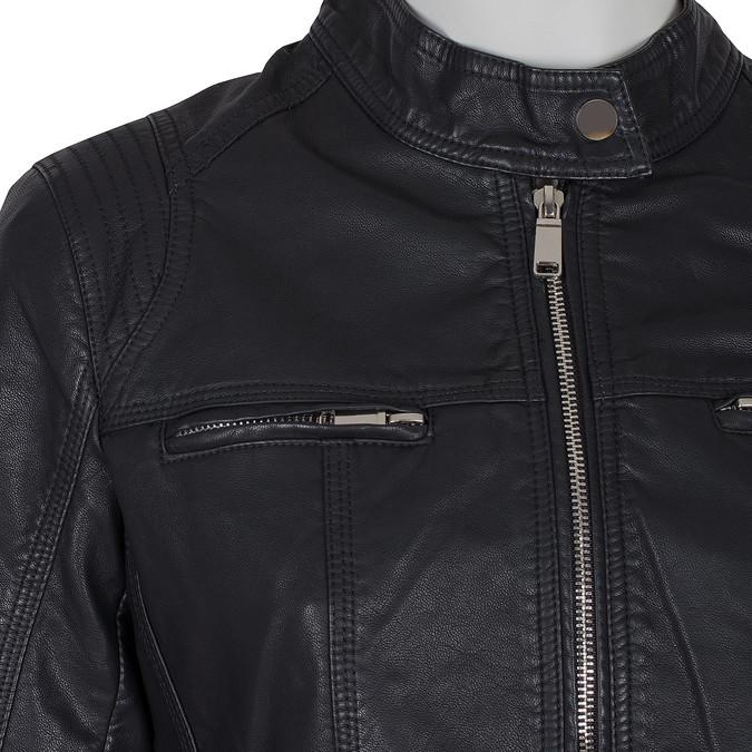 Černá koženková bunda dámská bata, černá, 971-6206 - 16