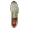 Pánské kožené polobotky bez šněrování a-s-98, khaki, 826-7019 - 17