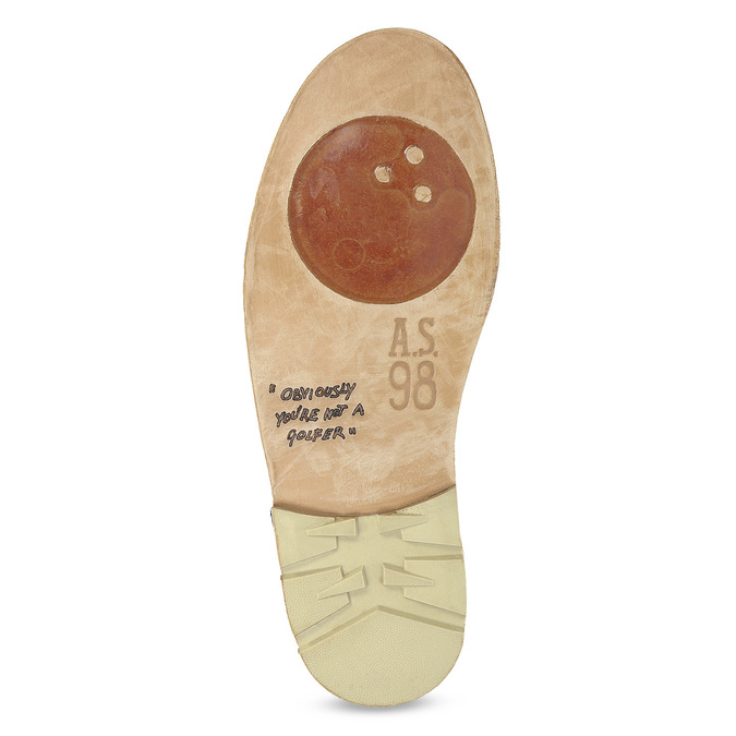 Pánské kožené Desert Boots a-s-98, khaki, 826-7002 - 18