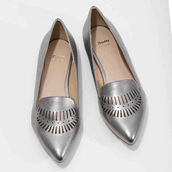 Dámská kožená obuv s perforací bata, 526-1659 - 16
