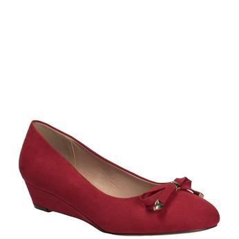 Červené baleríny na klínku bata, červená, 629-5633 - 13