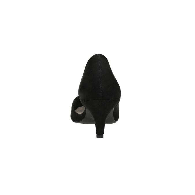 Lodičky na nízkém podpatku s vykrojením insolia, černá, 629-6635 - 15