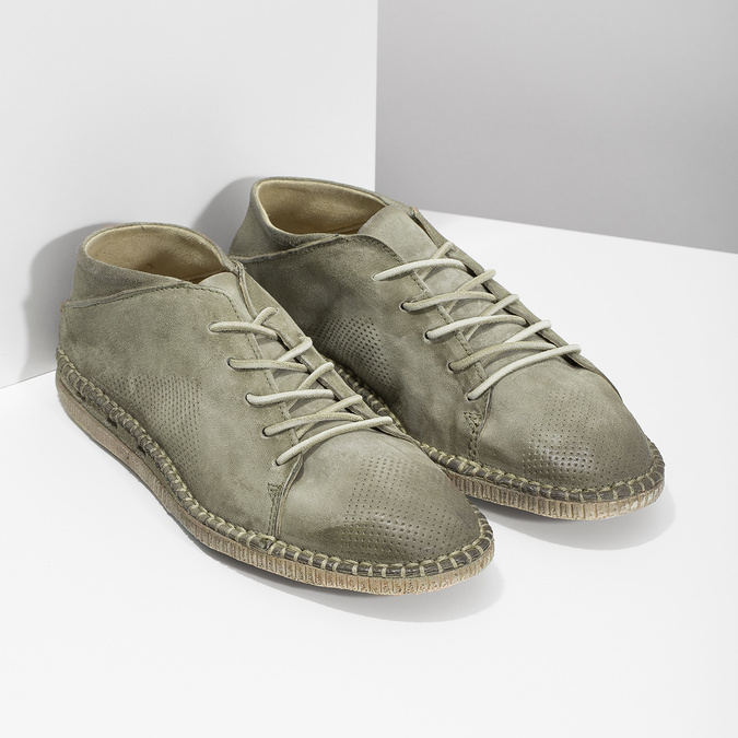 Pánské kožené Desert Boots a-s-98, khaki, 826-7002 - 26