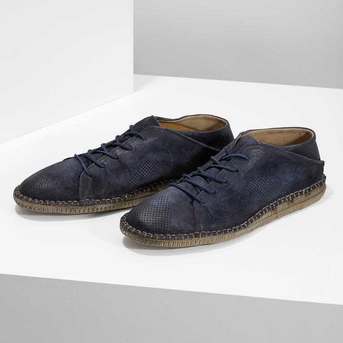 Kožené boty ve stylu Desert Boots modré a-s-98, modrá, 826-9002 - 16