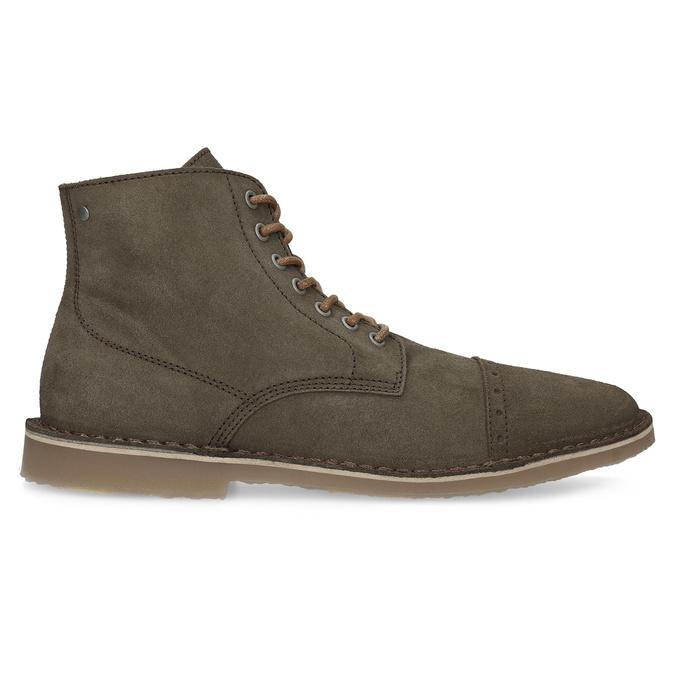 Kotníčková obuv z broušené kůže bata, khaki, 823-7629 - 19