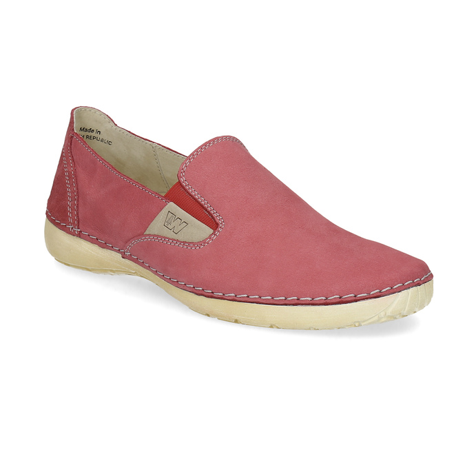 Červené dámské Slip-on weinbrenner, červená, 536-5606 - 13