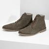 Kotníčková obuv z broušené kůže bata, khaki, 823-7629 - 16
