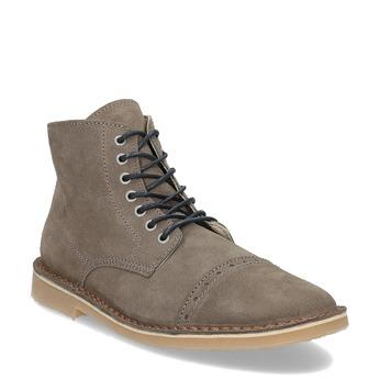Pánská kožená kotníčková obuv bata, hnědá, 823-8629 - 13