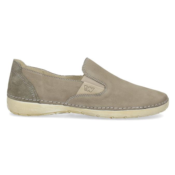 Kožené boty ve stylu Slip-on weinbrenner, béžová, 536-3606 - 19