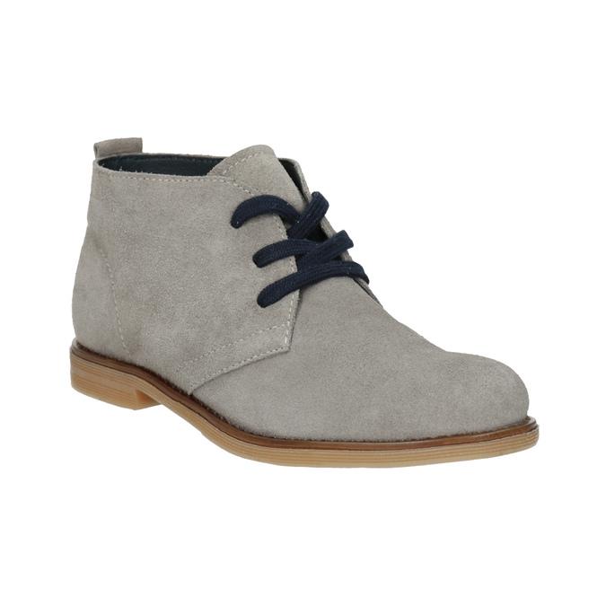 Dětské kožené Desert Boots mini-b, šedá, 313-3144 - 13