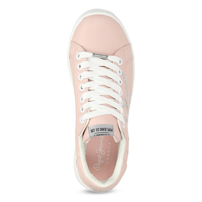 Růžové tenisky s výšivkou pepe-jeans, růžová, 546-5077 - 17