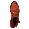 Kožené kozačky se zlatou přezkou a-s-98, červená, 516-5009 - 17