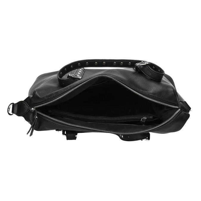 Černá kabelka s kovovými cvoky bata, černá, 961-6834 - 15