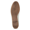 Dámské kožené mokasíny s přezkou bata, bílá, 516-1615 - 18