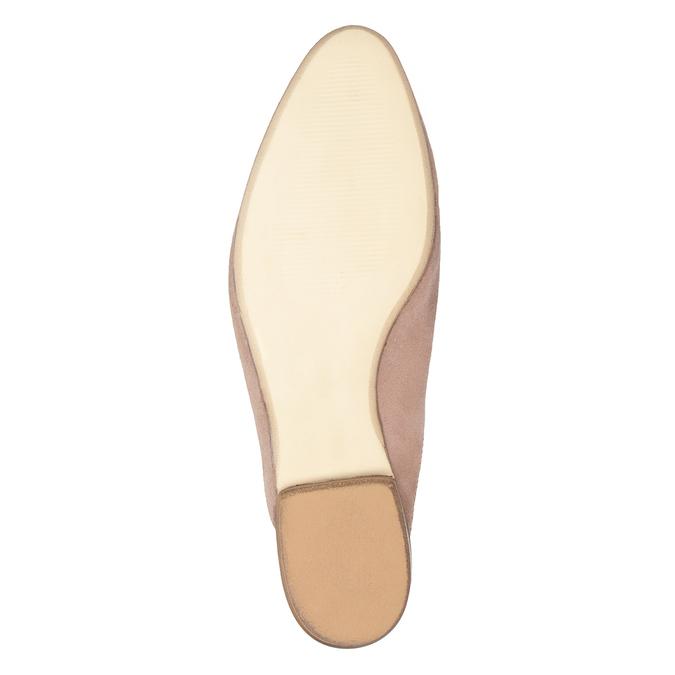 Kožené mokasíny s volnou patou bata, růžová, 516-5620 - 17
