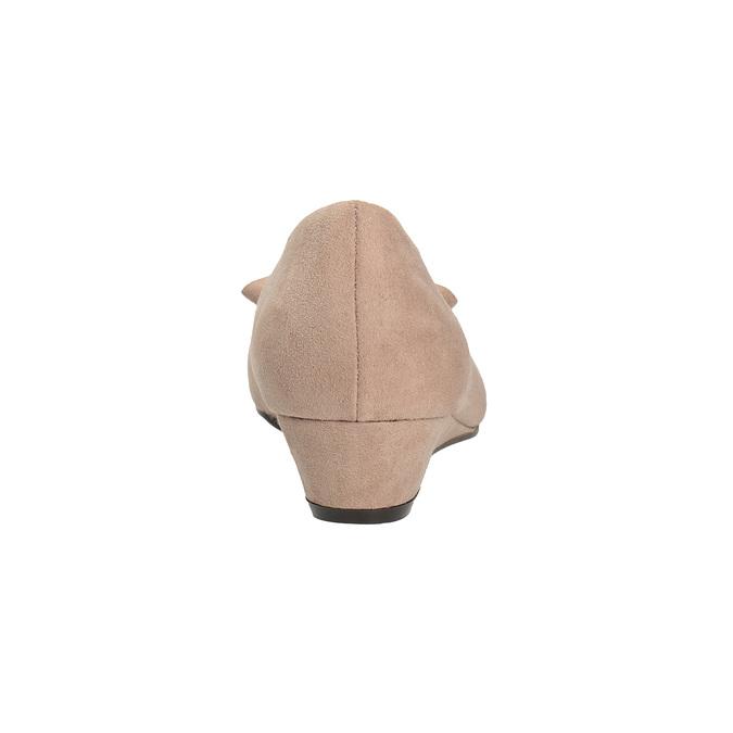 Lodičky na nízkém klínovém podpatku bata, béžová, 629-8633 - 15