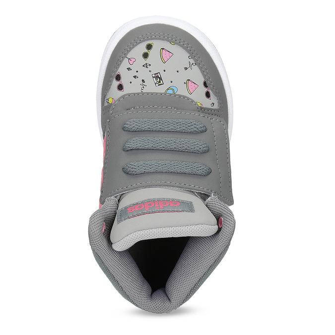 Šedé kotníčkové tenisky s potiskem adidas, šedá, 101-2125 - 17