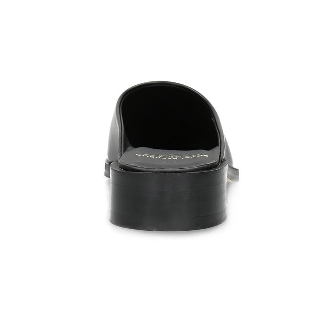 Kožené nazouváky s plnou špičkou royal-republiq, černá, 524-6003 - 15
