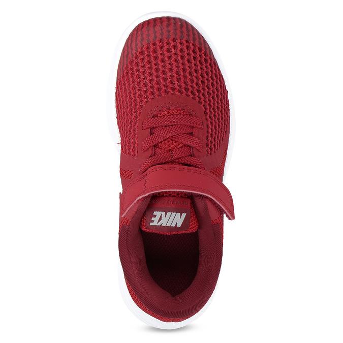 Červené dětské tenisky na suchý zip nike, červená, 309-5179 - 17