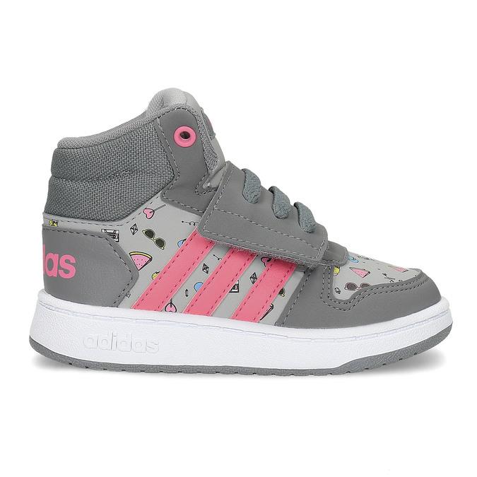 Šedé kotníčkové tenisky s potiskem adidas, šedá, 101-2125 - 19