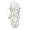 Bílé baleríny s kytičkami a třpytkami mini-b, bílá, 229-1106 - 15