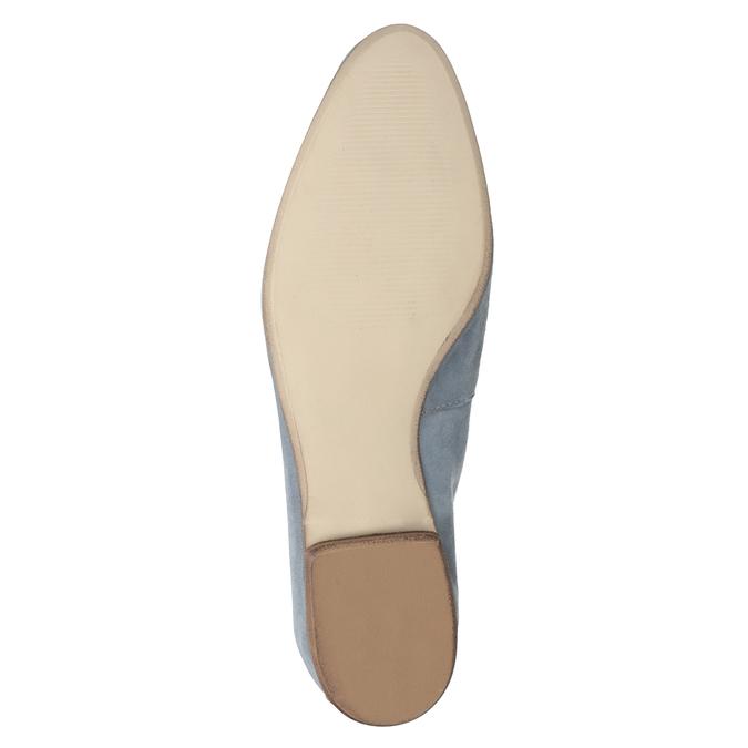 Ležérní mokasíny z broušené kůže bata, modrá, 516-9618 - 19