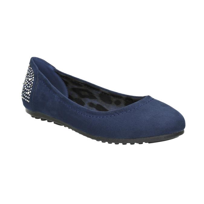 Modré baleríny s kamínky bata, modrá, 529-9639 - 13