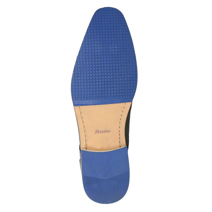 Kožené polobotky s modrou podrážkou bata, černá, 824-6631 - 19