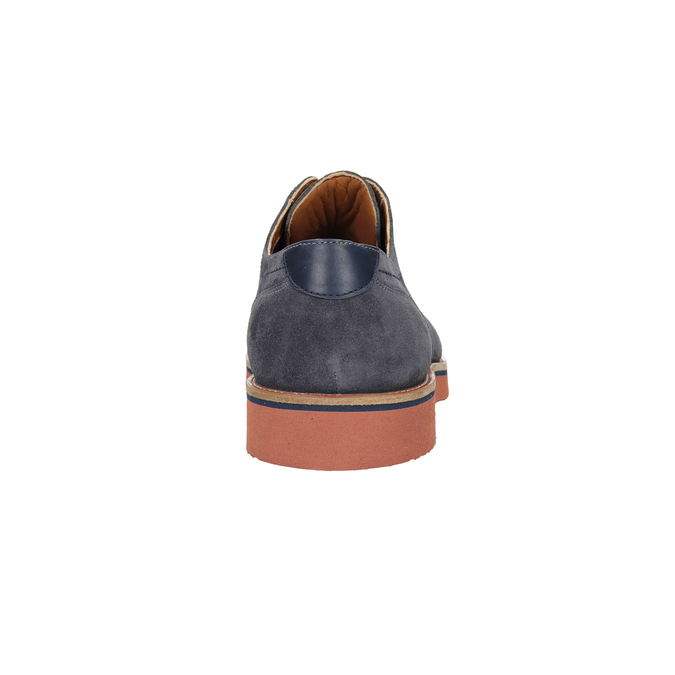Kožené polobotky s barevnou podešví bata, modrá, 823-2621 - 15