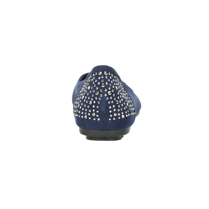 Modré baleríny s kamínky bata, modrá, 529-9639 - 16