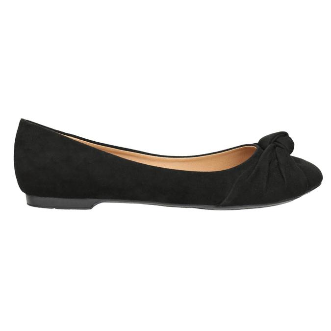 Dámské baleríny s mašlí bata, černá, 529-6637 - 26