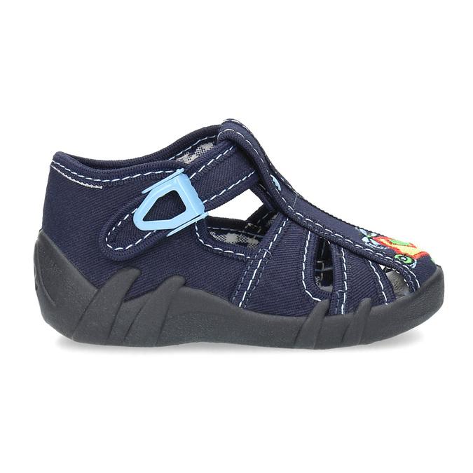Chlapecká domácí obuv modrá mini-b, modrá, 179-9601 - 19