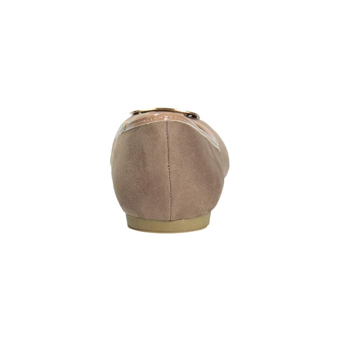 Béžové baleríny se zlatou sponou bata, 529-8638 - 16