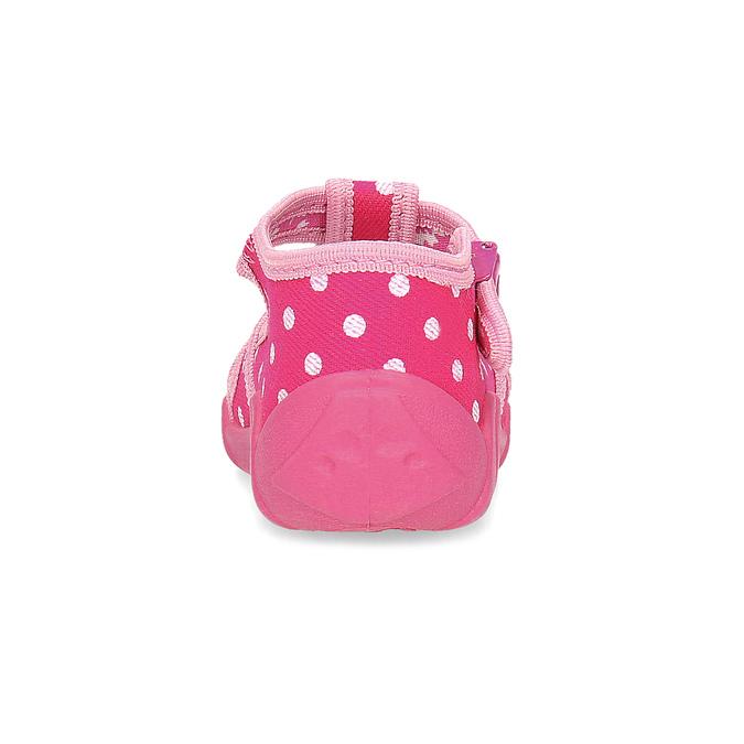 Dívčí růžové pantofle mini-b, 179-5601 - 15