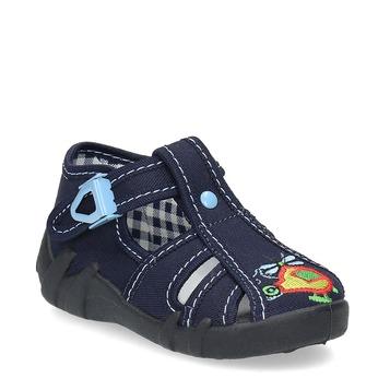 Chlapecká domácí obuv modrá mini-b, 179-9601 - 13