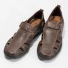 Kožené pánské sandály comfit, hnědá, 856-4605 - 16