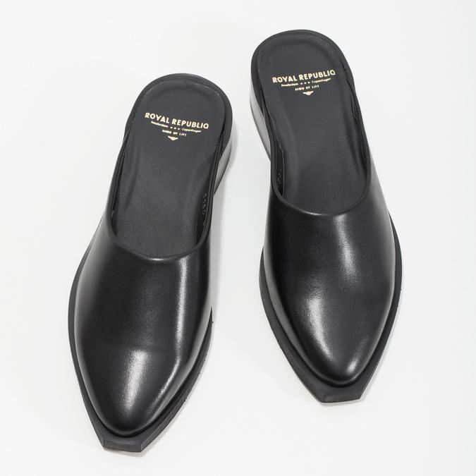 Kožené nazouváky s plnou špičkou royal-republiq, černá, 524-6003 - 16