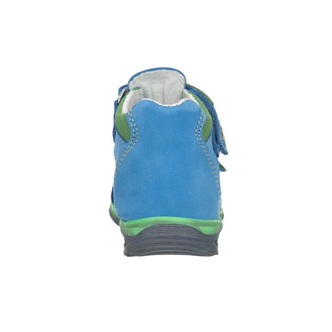 Dětské modré kožené sandály bubblegummers, modrá, 166-9602 - 16