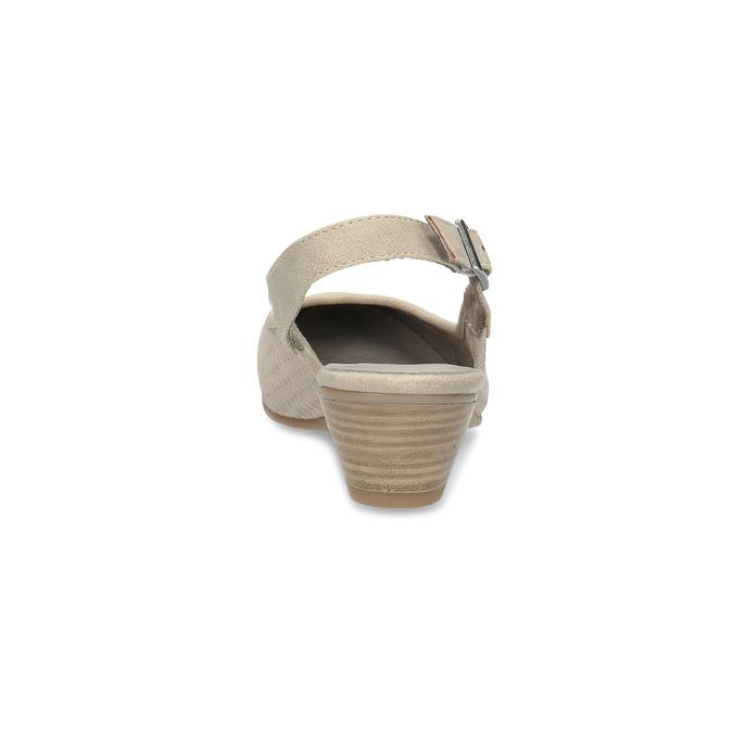 Kožené lodičky H s volnou patou bata, béžová, 623-2645 - 15